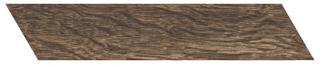 "Interceramic - 3""x13-1/2"" Artisanwood Dark Tan Chevron LEFT Tile"