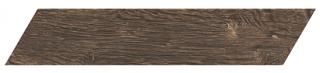 "Interceramic - 3""x13-1/2"" Artisanwood Dark Tan Chevron RIGHT Tile"
