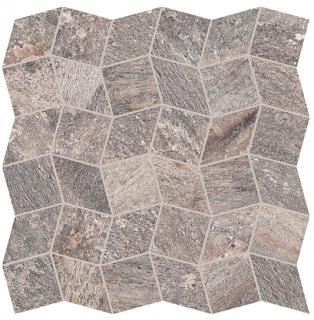 "Interceramic - 11""x11"" Quartzite Copper Polygon Mosaic Tile"