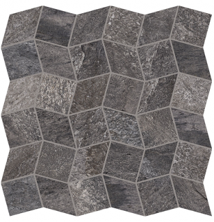 "Interceramic - 11""x11"" Quartzite Iron Polygon Mosaic Tile"