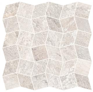 "Interceramic - 11""x11"" Quartzite Ivory Polygon Mosaic Tile"