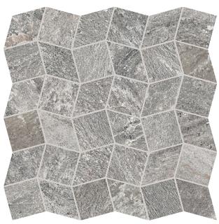 "Interceramic - 11""x11"" Quartzite Silver Polygon Mosaic Tile"
