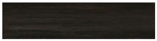 "Interceramic - 11-1/2""x47"" Black Forest Blauen Black Porcelain Tile (Rectified Edges)"