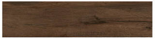 "Interceramic - 11-1/2""x47"" Black Forest Bosberg Espresso Porcelain Tile (Rectified Edges)"