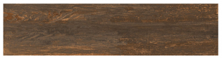 "Interceramic - 11-1/2""x47"" Black Forest Otten Bronze Porcelain Tile (Rectified Edges)"