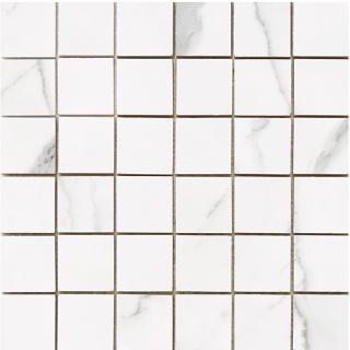 "Happy Floors - Statuario 2""x2"" Glossy Mosaic Tile (12""x12"" Sheet)"