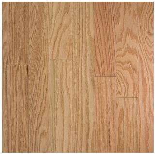 """Somerset - 2-1/4"""" wide x 3/4"""" thick Color Collection Natural Red Oak Solid Strip Hardwood Flooring PS2101"""