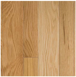 """Somerset - 2-1/4"""" wide x 3/4"""" thick Color Collection Natural White Oak Solid Strip Hardwood Flooring PS2117"""