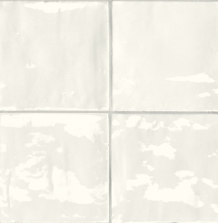 "Sartoria - 6""x6"" TSquare First Snow Glossy Ceramic Wall Tile TTTSW01G"