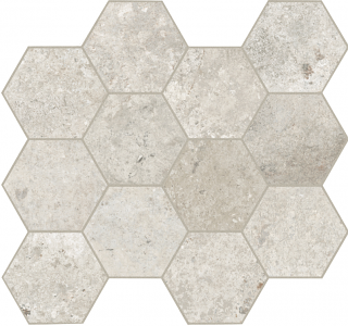 Unicom Starker - Debris Flint Hexagon Mosaic Tile