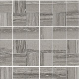 "Happy Floors - 2""x2"" Silver Dark Mosaic Tile (12""x12"" Sheet)"