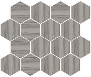 "Happy Floors - Silver Dark Hexagon Mosaic Tile (12""x14"" Sheet)"