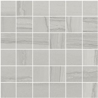 "Happy Floors - 2""x2"" Silver Grey Mosaic Tile (12""x12"" Sheet)"