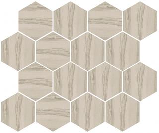"Happy Floors - Silver Taupe Hexagon Mosaic Tile (12""x14"" Sheet)"