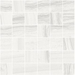 "Happy Floors - 2""x2"" Silver White Mosaic Tile (12""x12"" Sheet)"