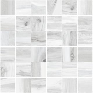 "Happy Floors - 2""x2"" Tasmania Frost Natural Mosaic Tile (12""x12"" Sheet)"