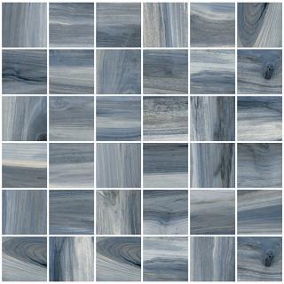 "Happy Floors - 2""x2"" Tasmania Rain Natural Mosaic Tile (12""x12"" Sheet)"