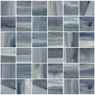 "Happy Floors - 2""x2"" Tasmania Rain Polished Mosaic Tile (12""x12"" Sheet)"