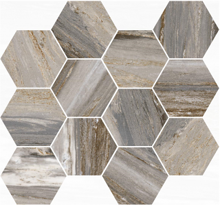 "Happy Floors - Bellagio Forest Hexagon Mosaic Tile (12""x14"" Sheet)"