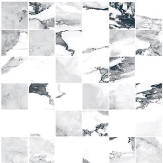 "Happy Floors - 2""x2"" Crash Blanco Natural Mosaic Tile (12""x12"" Sheet)"