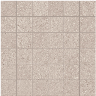 "Happy Floors - 2""x2"" Phase Ecru Mosaic Tile (12""x12"" Sheet)"