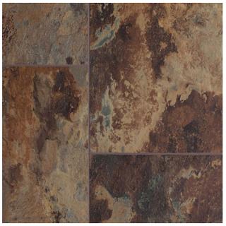 "AxisCor - 12""x24"" Axis Pro 12 Copper Stone SPC Waterproof Vinyl Plank Flooring"