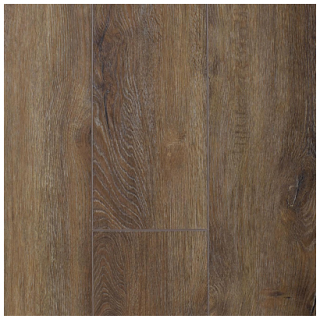 "AxisCor - 7""x60"" Axis Trio Caramel SPC Waterproof Vinyl Plank Flooring"