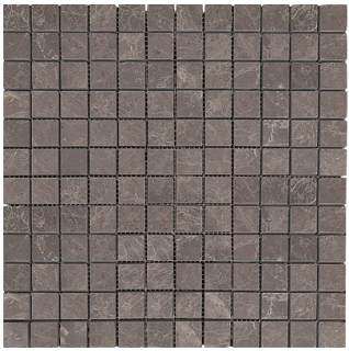"Interceramic - 1""x1"" Astoria Gray Polished Marble Mosaic (12""x12"" Sheet)"