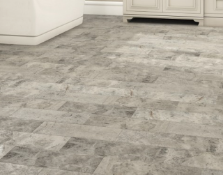 "Interceramic - 6""x18"" Astoria Gray Leather Finish Marble Tile"