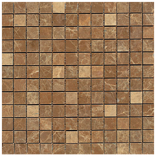 "Interceramic - 1""x1"" Emperador Light Polished Mosaic Tile"