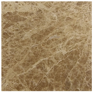 "Interceramic - 12""x12"" Emperador Light Polished Marble Tile"