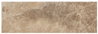 "Interceramic - 6""x18"" Emperador Light Leather Finish Marble Tile"