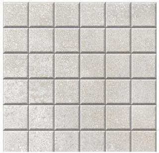 "Iris - 2""x2"" Brooklyn Cemento Argent Honed Mosaic Tile"