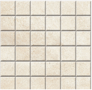 "Iris - 2""x2"" Brooklyn Cemento Sand Honed Mosaic Tile"
