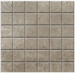 "Iris - 2""x2"" Brooklyn Cemento Toupe Honed Mosaic Tile"
