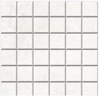 "Iris - 2""x2"" Brooklyn Cemento White Honed Mosaic Tile"