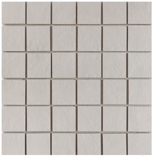 "Happy Floors - 2""x2"" Newton White Natural Porcelain Mosaic Tile (12""x12"" Sheet)"