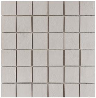 "Happy Floors - 2""x2"" Newton White Semi-Polished Porcelain Mosaic Tile (12""x12"" Sheet)"