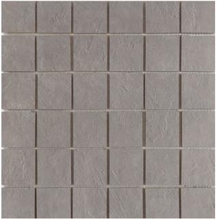 "Happy Floors - 2""x2"" Newton Silver Natural Porcelain Mosaic Tile (12""x12"" Sheet)"