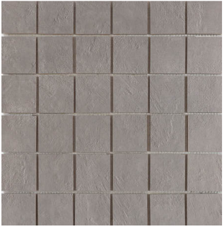"Happy Floors - 2""x2"" Newton Silver Semi-Polished Porcelain Mosaic Tile (12""x12"" Sheet)"