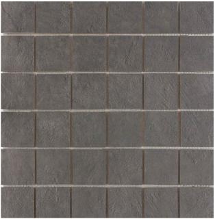 "Happy Floors - 2""x2"" Newton Graphite Semi-Polished Porcelain Mosaic Tile (12""x12"" Sheet)"