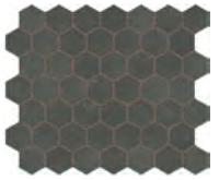 "Marazzi - 1-1/2""x1-1/2"" Moroccan Concrete Charcoal Porcelain Hexagon Mosaic Tile MC57"