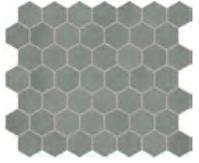 "Marazzi - 1-1/2""x1-1/2"" Moroccan Concrete Gray Porcelain Hexagon Mosaic Tile MC52"