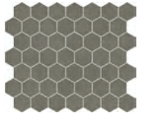 "Marazzi - 1-1/2""x1-1/2"" Moroccan Concrete Light Moss Porcelain Hexagon Mosaic Tile MC53"