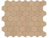 "Marazzi - 1-1/2""x1-1/2"" Moroccan Concrete Ochre Porcelain Hexagon Mosaic Tile MC55"