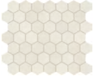 "Marazzi - 1-1/2""x1-1/2"" Moroccan Concrete Off White Porcelain Hexagon Mosaic Tile MC50"