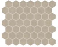 "Marazzi - 1-1/2""x1-1/2"" Moroccan Concrete Taupe Porcelain Hexagon Mosaic Tile MC51"