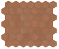 "Marazzi - 1-1/2""x1-1/2"" Moroccan Concrete Terra Cotta Porcelain Hexagon Mosaic Tile MC56"