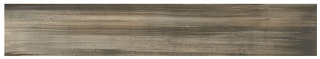 "Milestone - 8""x48"" +One Canvas Moka Polished Porcelain Tile (Rectified Edges)"