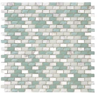 "SoBe Aqua Mini-Brick Mosaic (11.3""x11.4"" Sheet)"